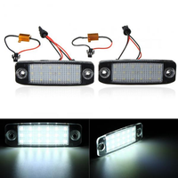 Pair 18 LED White Car Number License Plate Lights Lamps For Hyundai Sonata i45 2011+
