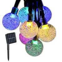 Solar Powered Colorful 30 LED Retro Bulb String Light for Garden Outdoor Holiday Festival