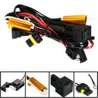 40A Relay Wiring Harness 50W Load Resistor H1 H7 H11 9005 9006 H3 HID Headlight
