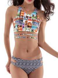 Pattern Printed Stretchy Comfort Woman Tankinis Swimwear