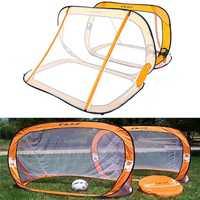 2 x Mini Pop Up Soccer Goals Football Foldable Net Kids Outdoor Sports Training
