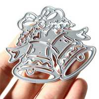 Christmas Bell Metal Die Cutting Stencil Template DIY Scrapbook Photo Paper Gift Party Decor Tool