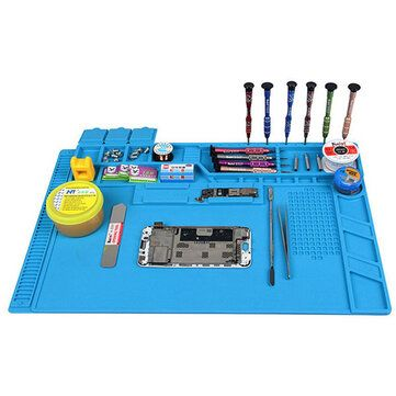 S 170 480x318mm Silicone Pad Desk Work Mat Heat Insulation Maintenance Platform for BGA PCB Soldering Repair Tool