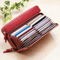 Brenice Women 24 Cards Wallet Long Purse Coin Bag