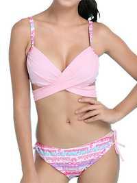 Women Plunge Lace-Up Swimwear Sets