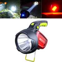 XANES LED Intelligent Bright Flashlight USB Rechargeable Outdoor Warning Camping Fishing Lamp Searchlight