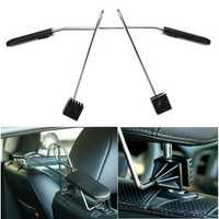 Car Auto Seat Headrest Coat Hanger Clothes Jackets Suits Holder Stainless Steel
