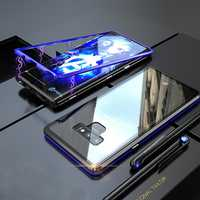 Bakeey Magnetic Adsorption Metal Clear Glass Protective Case for Samsung Galaxy Note 9