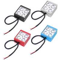 3inche 4LED DC12-24V 12W 2200LM Waterproof Motorcycle Front Bumper Lights Car Network Lights White Light