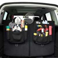 Car Seat Back Storage Bag SUV Trunk Tools Sundries PU Leather Multifunction Vehicle Storage Bag