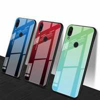 Bakeey™ Gradient Color Tempered Glass + Soft TPU Back Cover Protective Case for Xiaomi Redmi Note 7