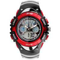 SKMEI 998 Fashion Children Dual Display Watch LED Multifunctional Boys Girls Sport Watch