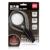 Deli 9091 Racket Magnifier Medium Diameter 60mm 3 Times Magnification Assisted By 6 Times Magnification