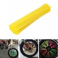 38pcs 21cm Spoke Covers Wheels Rim Shrouds Wrap Protector 11 Colors For Motorcycle Motocross