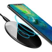Baseus 10W 7.5W QC3.0 Glass Mirror Wireless Charger charging pad For iPhone XS HUAWEI Mate 20 Pro S9