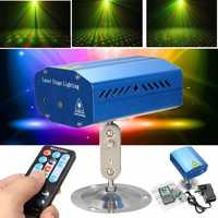 Mini R&G Auto/Voice Xmas Party LED Lamp Laser Stage Light Projector + Remote