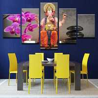 5 Panels Elephant Wall Painting Wine Art Modern Design Paintings Wall Decoration Home Decor