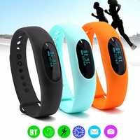Waterproof bluetooth 4.0 Smart Bracelet Pedometer Sleep Monitor Wristband Watch Fitness Tracker