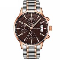GUANQIN GS19093 Calendar Business Stainless Quartz Watch