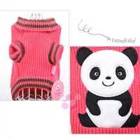 Panda Pet Dog Cat Sweater Comfortable Warm Autumn Winter Sweater