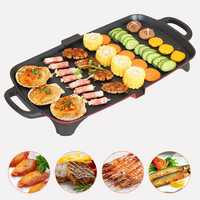 1350W Table Smokeless Hot Plate Frying NonStick Barbeque Electric Teppanyaki BBQ Grill