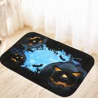 40x60cm Halloween Pumpkin Non-slip Floor Mat Bathroom Kitchen Bedroom Doormat Carpet Decor