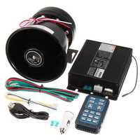 DC12V 400W 8 Sound Loud Car Warning Alarm Police Siren Horn PA Speaker Remote
