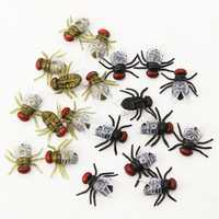 10PCS April Fool's Day House Fly Animal Toy Joke Prank Funny Magic Props Gifts