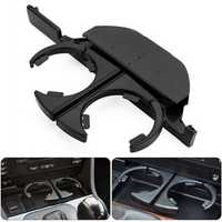 Console Front Left Hand Driving ABS Black Cup Holder Mount for BMW E39 525 528 530 540 M5