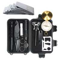 IPRee® 10 in 1 Upgraded Outdoor EDC Survival Kit Case SOS First-aid Emergency Multi-tool