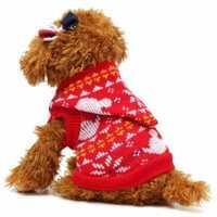 Cat Puppy Pet Dog Sweater Coat Costume Apparel Warm Knitwear Clothes Cap Jacket Pet Hoodie Clothes