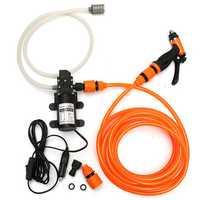 Portable High Pressure Washer Power Pump Self-priming Car Wash Gun Sprayer 12V 36W