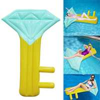IPRee™ 210x150CM Inflatable Water Float Diamond Key Shape Floating Mat Beach Swim Seat Bed