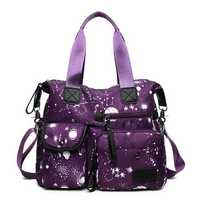 Nylon Large-capacity Starry Sky Pattern Shoulder Bag