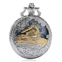 Deffrun Vintage Style Unisex Watch Silver Case Pocket Watch