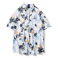 Mens Summer Holiday Floral Printed Hawaiian Shirts