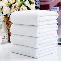 60x30cm White Soft Cotton Bath Towel Absorbent Travel Gym Camping Sport Towel