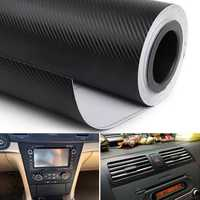 38cm x 100cm Carbon Fiber Pattern Car Interior Decoration Stickers Protective Film