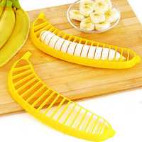 Banana Slicer Banana Cutter Chopper Fruit Salad Sundaes Chopper Kitchen Fruit Tool Salad Accessory