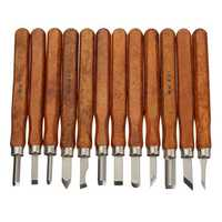 3/8/12Pcs Wood Carving Chisel Tool Set Wood Working Professional Gouges