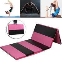 118×47×2inch Folding Gymnastics Mat Yoga Exercise Gym Airtrack Panel Tumbling Climbing Pilates Pad Air Track
