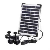 10V 5W Solar Power Powered Water Fountain Pump For Pool Pond Garden Outdoor Submersible