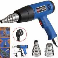 220V 1800W 600℃ Hot Air Heat Blower Paint Drying Striping Tool with 2 Nozzles