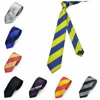 Pensee Mens Self Bow Ties Thick Twill Polyester Silk Skinny Jacquard Woven Neckties