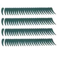 100pcs Plastic Blade Durablade Grass Trimmer Lawnmower Blades For Bosch ART 23/26-18