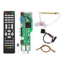 5 OSD Game RR52C.04A Support Digital Signal DVB-S2 DVB-C DVB-T2/T ATV Universal LCD Driver Board Dual USB Play Media 40Pin 1CH 6 Bit
