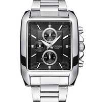 LONGBO 80006 Men Watch Steel Strap Alloy Case Luminous Fashion Casual Quartz Wrist Watch