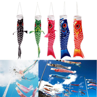 40cm Japanese Style Koi Nobori Carp Flag Wind Sock Koinobori Fish Waterproof Kite Mascot Crafts Hanging Decor