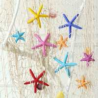 5.5cm Mediterranean Style Colorful Mini Starfish Ornament Potted Plant Craft Home Garden Decor 1pcs