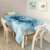 KCASA KC-TC2 American Style Creative Landscape Colorful Tablecloth Waterproof Oil Proof Tea Tablecloth Home Party Decorative